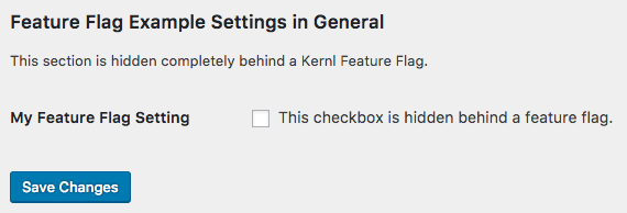 Feature Flags Example Setting Image