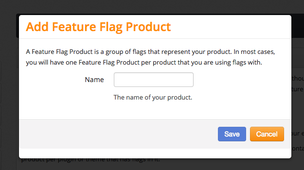 Feature Flags Add Product Modal