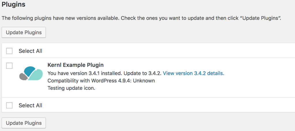 Kernl Plugin Update Icon - After